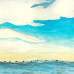 """Farther Shores"", watercolor, 9 x 12 (student artwork, Class of 2012)"